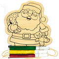 Santa Wood Ornament Activity Kit