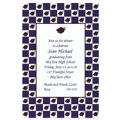 Custom Mortarboard Checkerboard Graduation Invitations