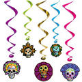 Day of the Dead Hanging Swirl Decorations 40in 5ct
