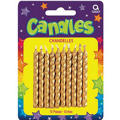 Gold Birthday Candles 2in 10ct