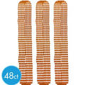 Metallic Orange Bead Necklaces 30in 48ct