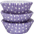 Lavender Polka Dot Baking Cups 75ct