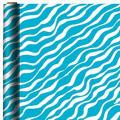 Jumbo Caribbean Blue Zebra Gift Wrap