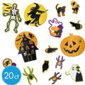 Halloween Glitter Cutouts 20ct