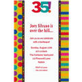 Birthday Dots & Stripes 35 Custom Invitation