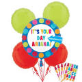 Personalized Balloon Bouquet 5pc - Cabana Polka Dot
