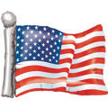 Foil American Flag Balloon 27in