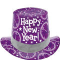 Purple Prismatic Top Hat 5in