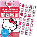 Hello Kitty Valentines Day Cards with Tattoos 34ct