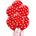 Heart Print Latex Balloons 12in 6ct