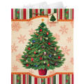 Jumbo Christmas Tree Gift Bag 17in