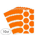 Orange Dot Paper Favor Bags 10ct