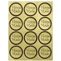 Gold Homemade Sticker Seals 24ct