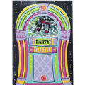 Jukebox Rock Invitations 8ct