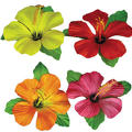 Hibiscus Flower Table Cover Clips 3 1/2in 4ct