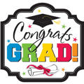 Congrats Grad Graduation Cutout 15in