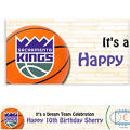 Sacramento Kings Custom Banner 6ft