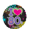 Foil Totally 80s Balloon 18in