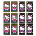Neon Hello Kitty Black Paper Memo Pads 12ct