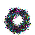 Jewel Tone Tinsel Wreath