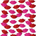 Glitter Lips Foam Stickers 60ct