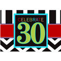 Celebrate 30th Birthday Invitations 8ct