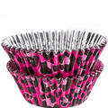 Pink Leopard Foil Baking Cups 36ct