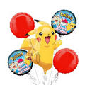 Happy Birthday Pokemon Balloon Bouquet 5pc