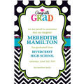 Custom Bright Congrats Grad Announcements