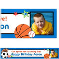 Sports Party Custom Photo Banner