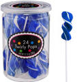 Twirly Royal Blue Lollipops 24pc