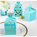 Robin's Egg Blue Lantern Favor Boxes