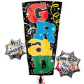 Colorful Grad Letters Graduation Balloon
