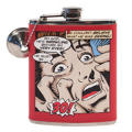 Red Comic Art 30th Birthday Flask
