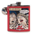 Red Comic Art Old Person Birthday Flask