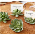 Faux Succulent Place Card Holder