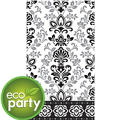 Eco-Friendly Black & Silver Ornate Damask Guest Towels 16ct