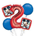Mickey Mouse 2nd Birthday Balloon Bouquet 5pc