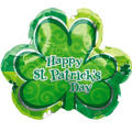 Foil Lucky Shamrock St. Patricks Day Balloon 22in