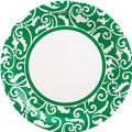 Festive Green Ornamental Scroll Party Supplies