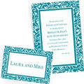 Custom Caribbean Blue Wedding Invitations & Thank You Notes