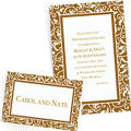 Custom Gold Wedding Invitations & Thank You Notes