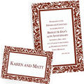 Custom Chocolate Brown Wedding Invitations & Thank You Notes