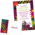 Custom 80s Theme Party Invitations & Thank You Notes