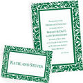 Festive Green Custom Wedding Invitations & Banners