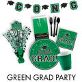 Congrats Grad Green Graduation Party Supplies