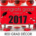 Red Grad Congrats Graduation Decorations