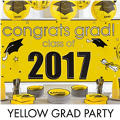Yellow Congrats Grad Graduation Decorations