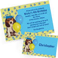 Custom Party Pups Invitations & Thank You Notes