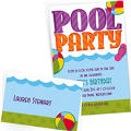 Custom Pool Party Invitations & Thank You Notes